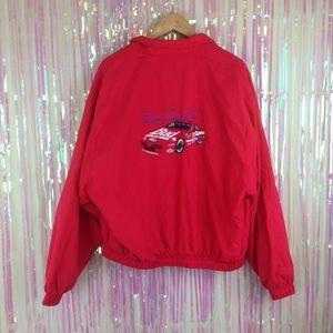 Vtg NASCAR Bill Elliott red #11 jacket coat T117